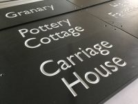 Stevens cornish slate house signs