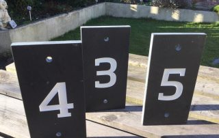 we make signs on 6, 10 and 25mm slate