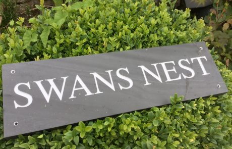 Cornish Slate Sign with Times font
