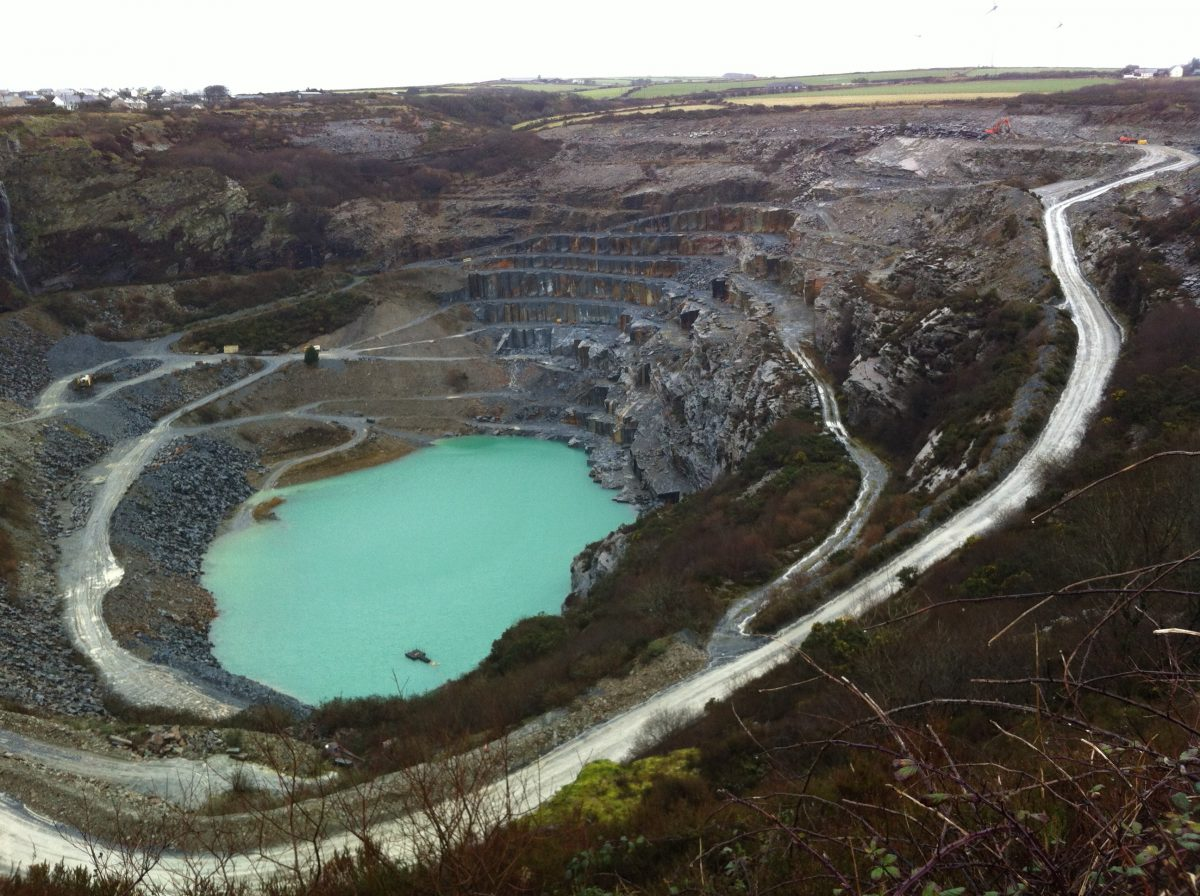 we get our cornish slate from the delabole quarry