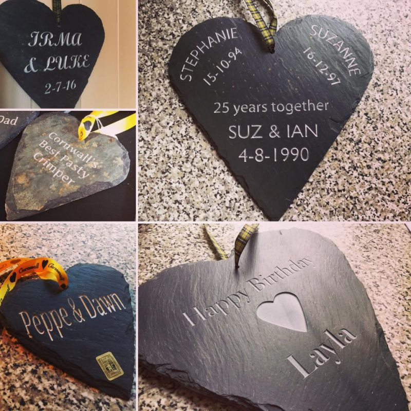 Valentines Day Gift ideas in cornish slate