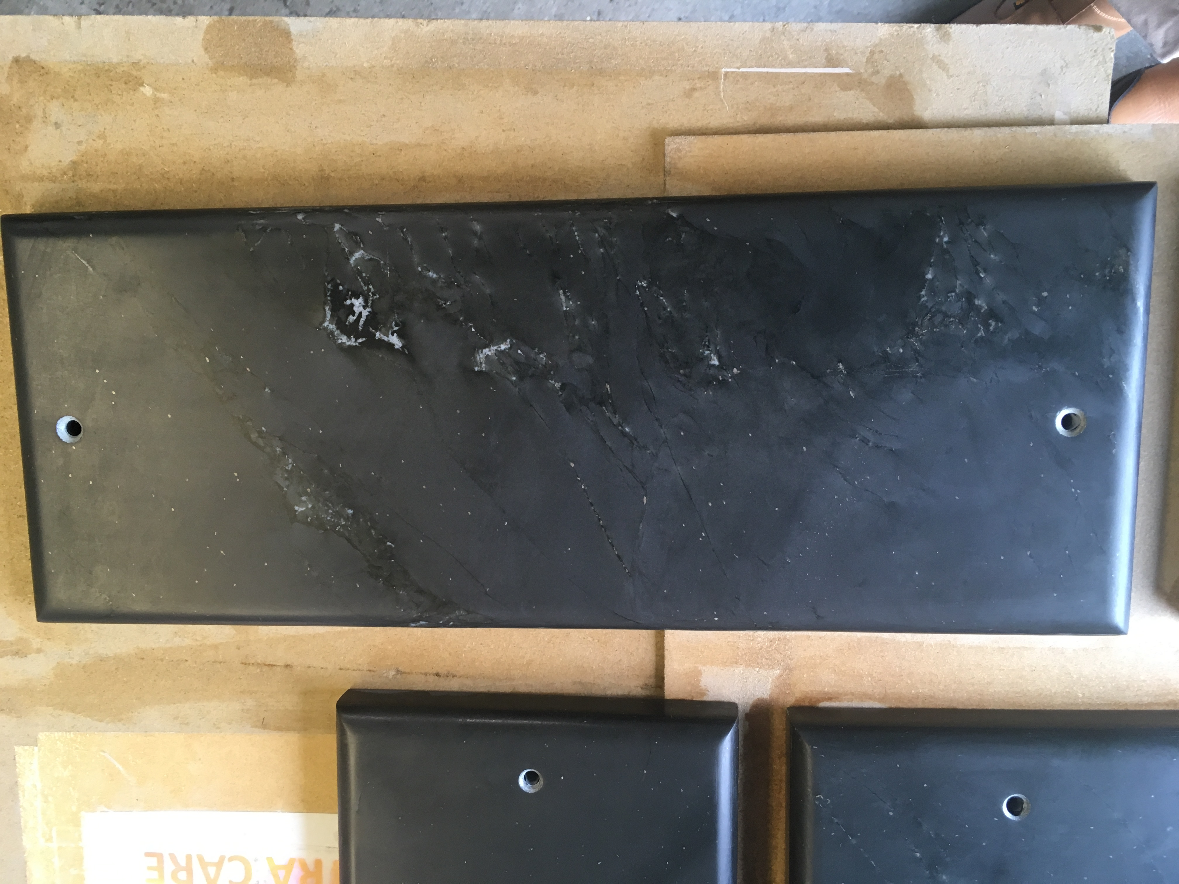cornish slate window sill with a half bull nose edge
