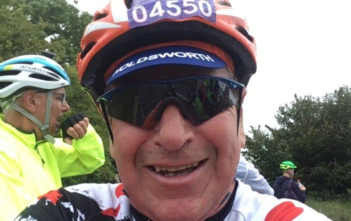 pat ready to go on the london to brighton bike ride